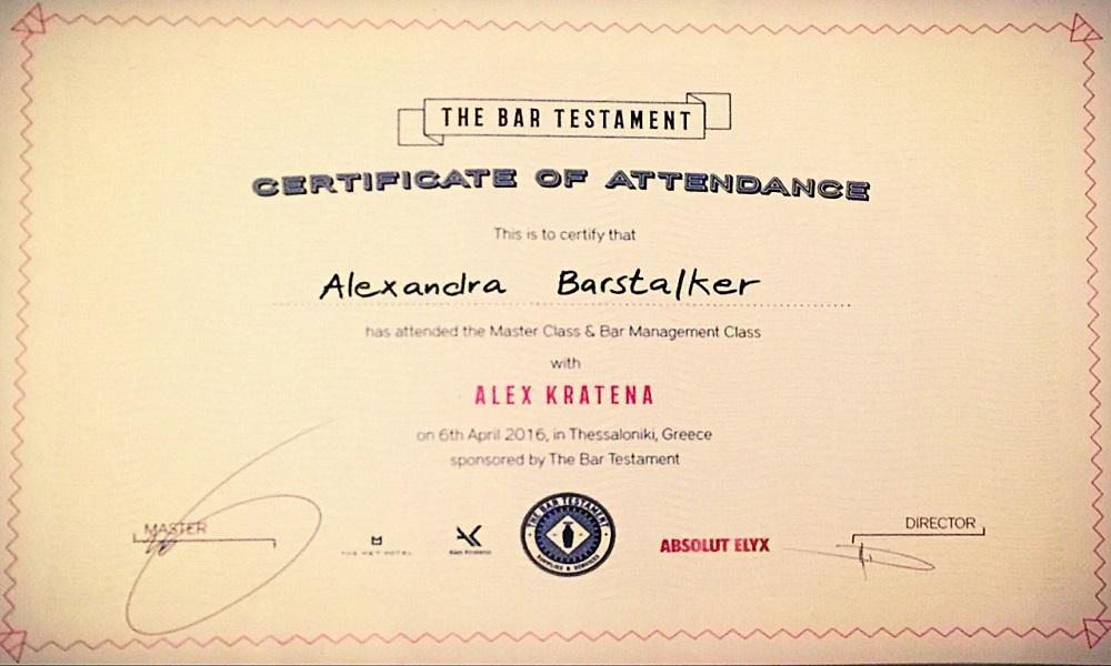 Zertifizierter Barstalker