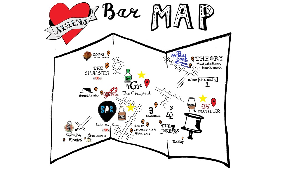 Athens Bar Map – update